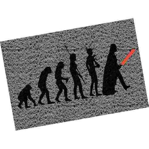 Tapete Capacho Evolução - Star Wars 60x40cm  - Zap Tapetes e Capachos Personalizados