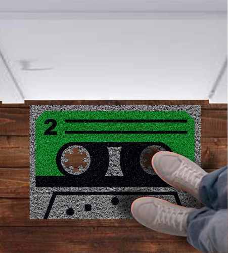 Tapete capacho Fita Cassete Retro 60x40cm  - Zap Tapetes e Capachos Personalizados