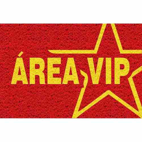 Tapete personalizado Areá Vip 60x40cm - Vermelho  - Zap Tapetes e Capachos Personalizados