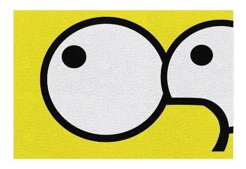 Tapete personalizado Bart Simpson 60x40cm  - Zap Tapetes e Capachos Personalizados