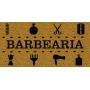 Capacho Personalizado Barbearia III | Ouro