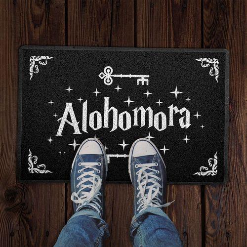 Capacho 60x40cm ALOHOMORA Harry Potter - Preto  - Zap Tapetes e Capachos Personalizados