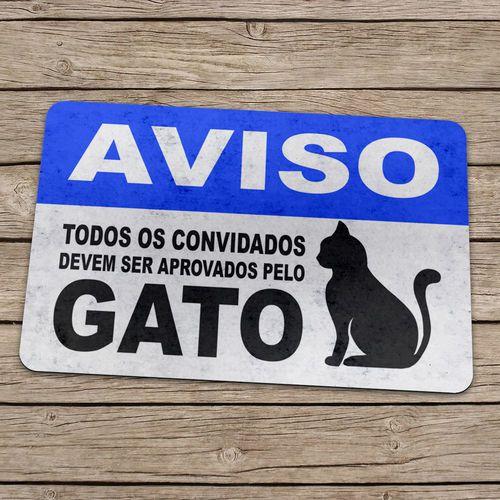 Capacho Aprovados Pelo Gato 60x40cm  - Zap Tapetes e Capachos Personalizados