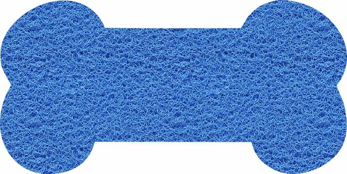 Capacho Formato Osso para Pet Shop | Azul Marítimo  - Zap Tapetes e Capachos Personalizados