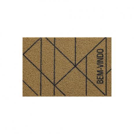 Capacho para porta Bem Vindo Ouro 60x40 cm  - Zap Tapetes e Capachos Personalizados