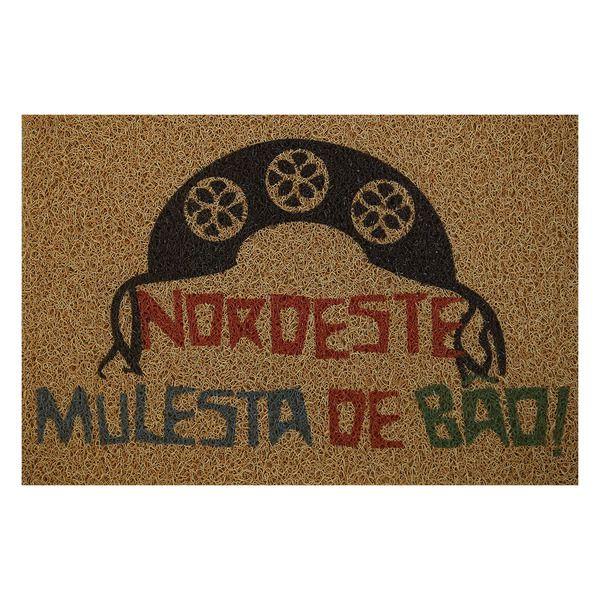 Capacho Para Porta De Apartamento Nordeste Mulesta de Bao! 40x60cm  - Zap Tapetes e Capachos Personalizados