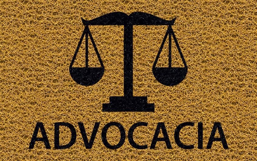 Capacho Personalizado Advocacia (B)   Ouro  - Zap Tapetes e Capachos Personalizados