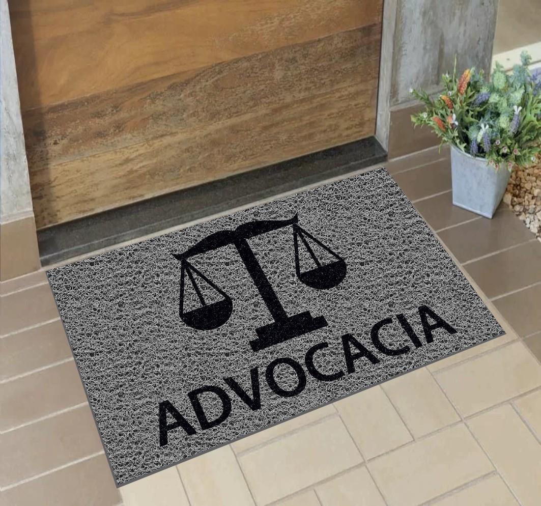 Capacho Personalizado Advocacia (B)   Prata  - Zap Tapetes e Capachos Personalizados