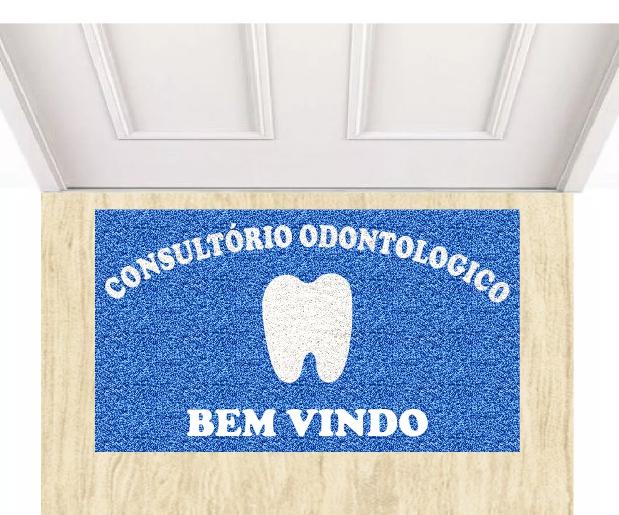 Capacho Personalizado Consultório Odontológico Tamanho 90x60 cm  - Zap Tapetes e Capachos Personalizados