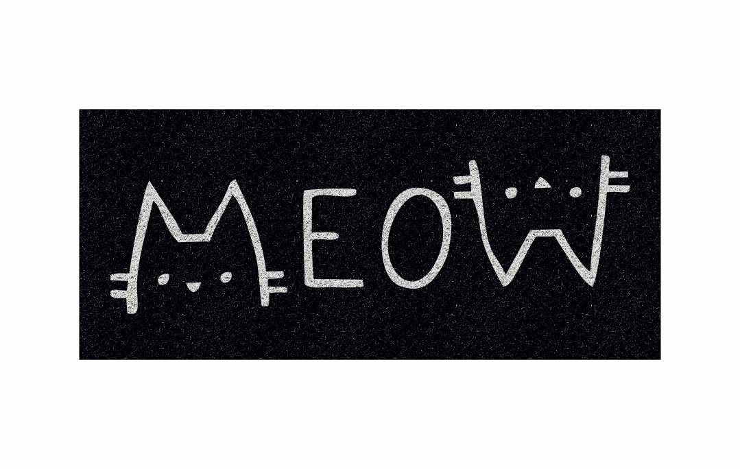 Capacho Personalizado Meow  - Zap Tapetes e Capachos Personalizados
