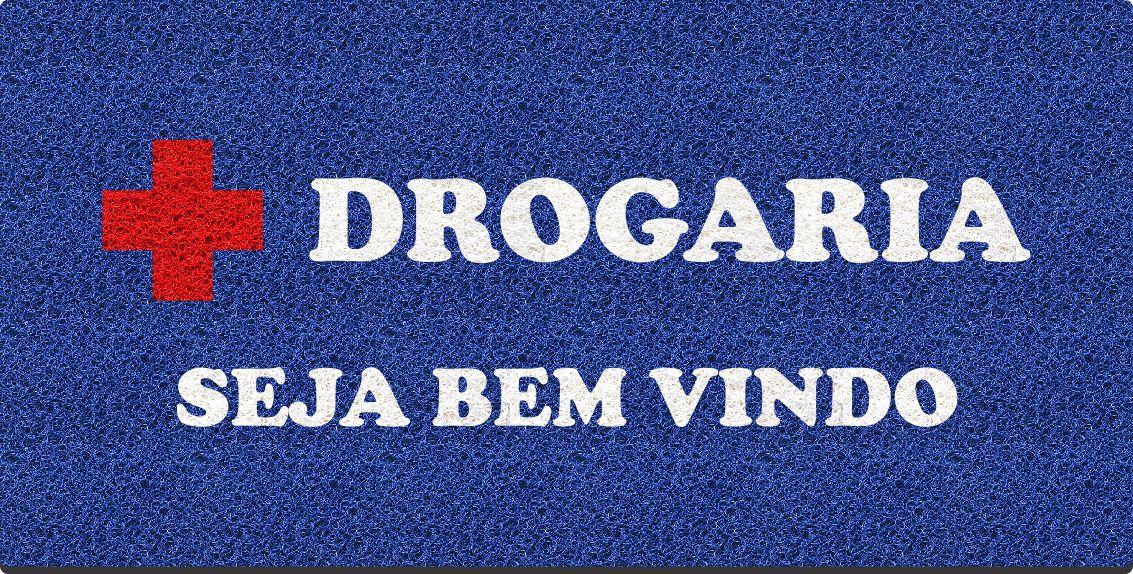 Capacho Personalizado para Drogarias   Azul Royal  - Zap Tapetes e Capachos Personalizados