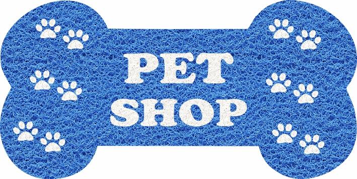 Capacho Personalizado para Pet Shop   Azul Marítimo  - Zap Tapetes e Capachos Personalizados