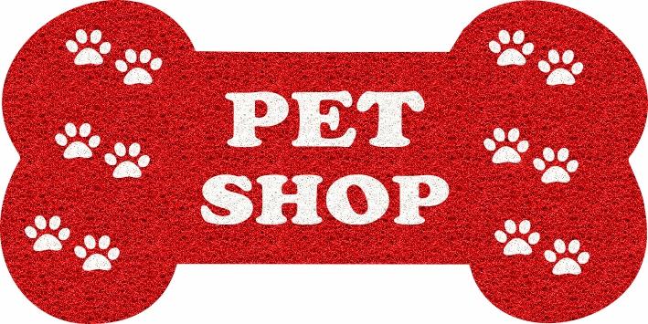 Capacho Personalizado para Pet Shop   Vermelho  - Zap Tapetes e Capachos Personalizados