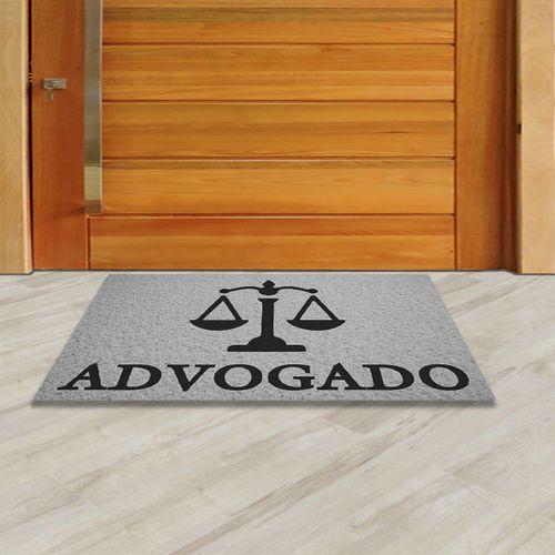 Capacho Profissão Advogado   Prata  - Zap Tapetes e Capachos Personalizados