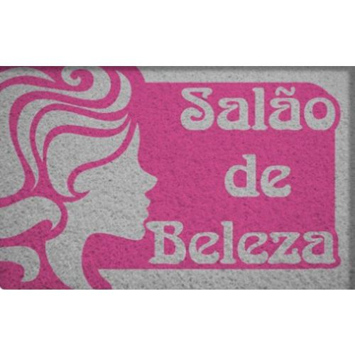Capacho Profissão Salão de Beleza 40x60cm  - Zap Tapetes e Capachos Personalizados