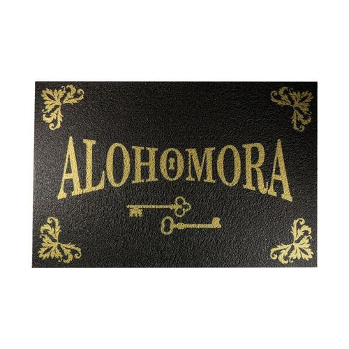 Capacho Tapete 60x40cm - Alohomora - Harry Potter Marrom  - Zap Tapetes e Capachos Personalizados
