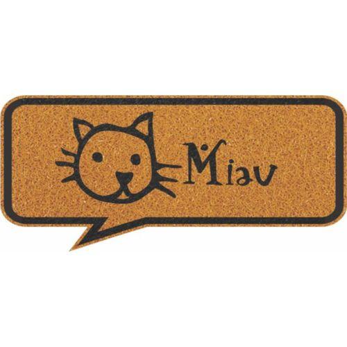 Capacho Vinil Formas Miau 30x70cm  - Zap Tapetes e Capachos Personalizados