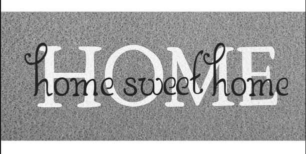 Capacho Vinil Long Home Sweet Kapazi Cinza  - Zap Tapetes e Capachos Personalizados