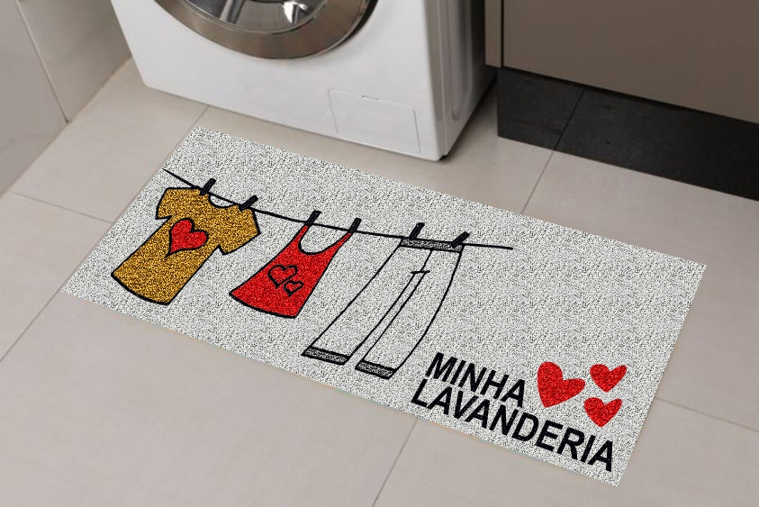 Capachos para Lavanderia, Antiderrapantes 120x40 cm - Minha Lavanderia  - Zap Tapetes e Capachos Personalizados