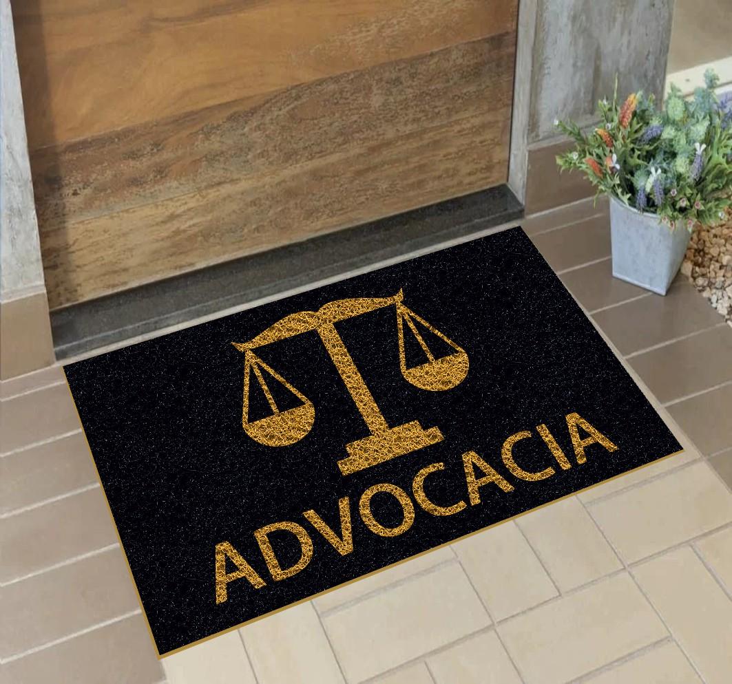 Capacho Personalizado Advocacia (B)   Preto  - Zap Tapetes e Capachos Personalizados