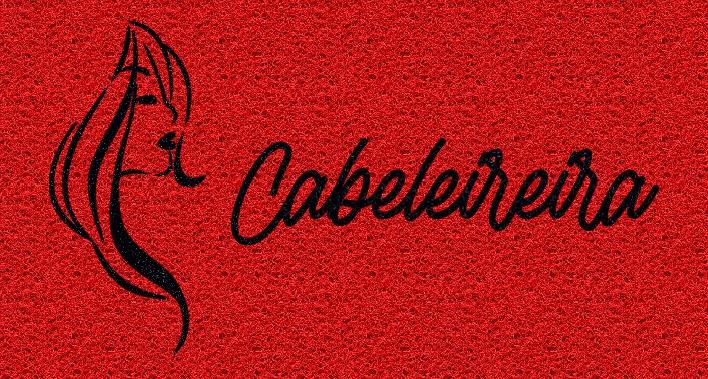Capacho Personalizado Cabeleireira | Vermelho  - Zap Tapetes e Capachos Personalizados
