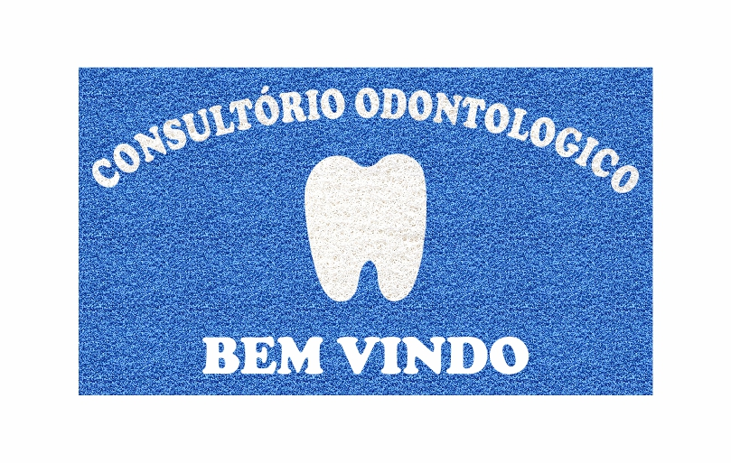 Capacho Personalizado Consultório Odontológico Tamanho 120x60 cm  - Zap Tapetes e Capachos Personalizados