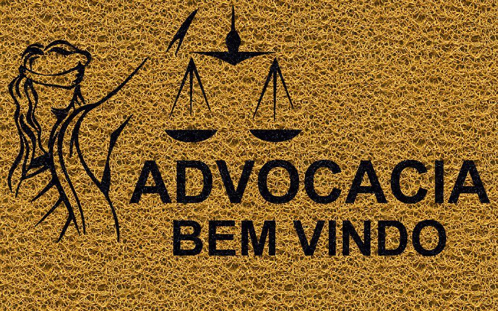 Capacho Personalizado Advocacia (T) | Ouro  - Zap Tapetes e Capachos Personalizados