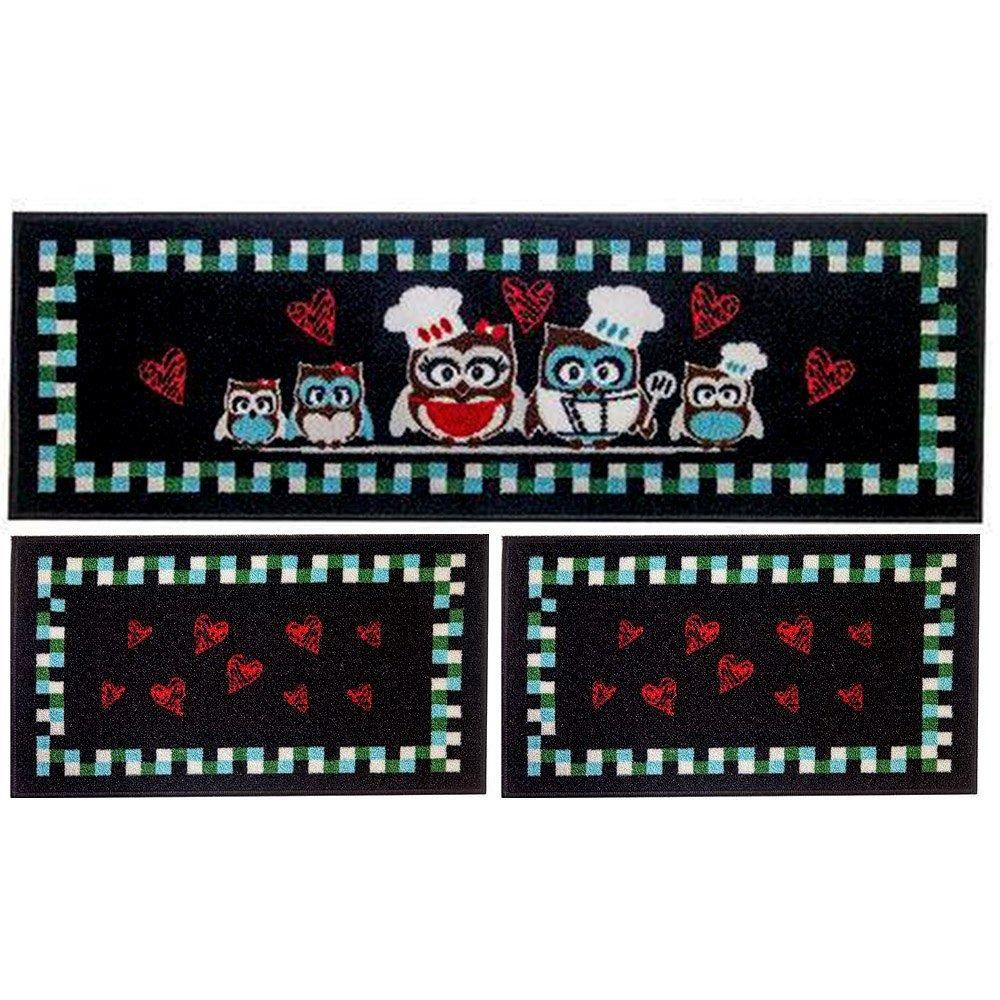Jogo de Tapetes de Pia para Cozinha  - Zap Tapetes e Capachos Personalizados