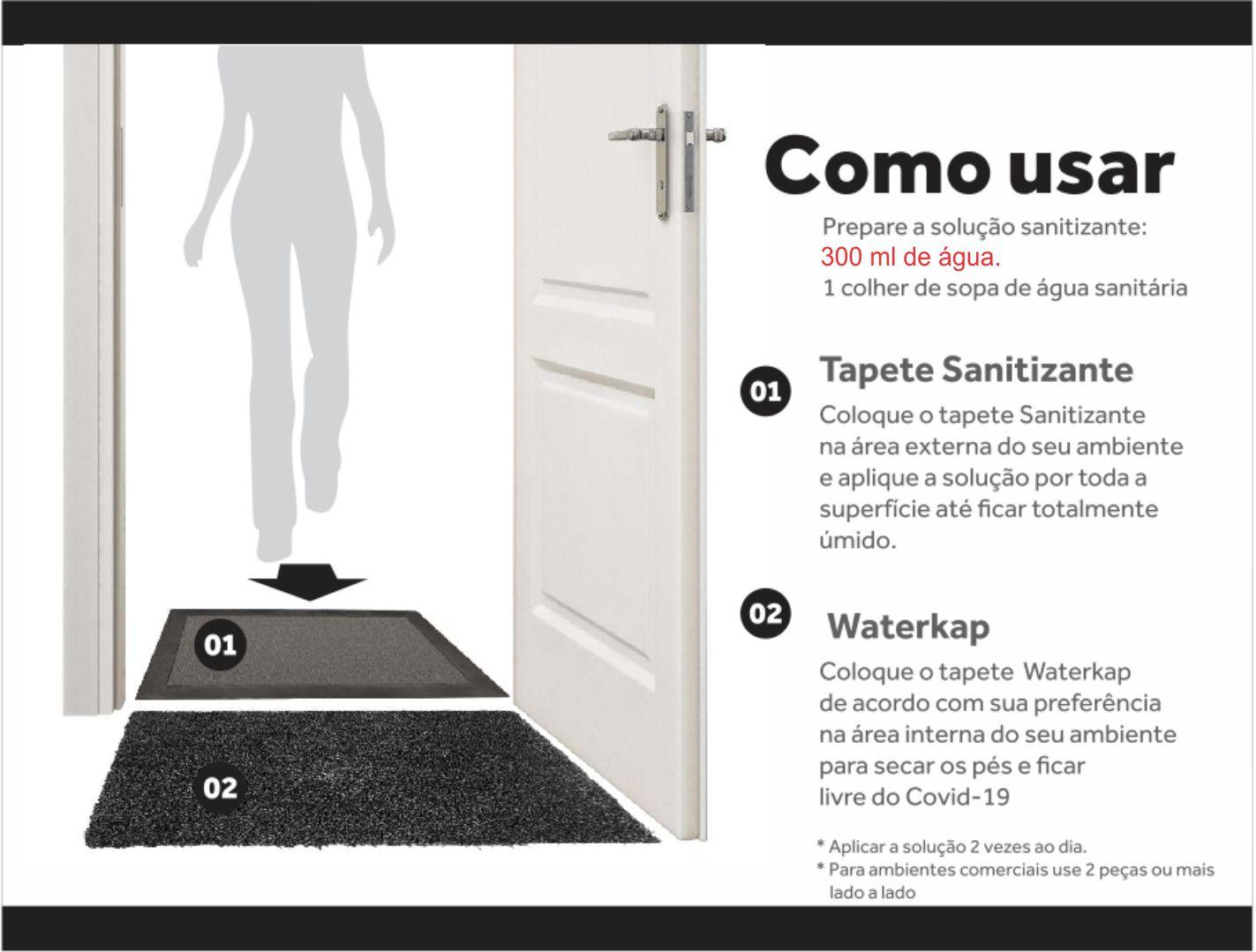 Kit 2 pecas, Sanitizante 90x60cm e Secante 40x60cm  para Condominios  - Zap Tapetes e Capachos Personalizados