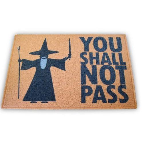Taopete Capacho You Shall Not Pass, Senhor Dos Anéis 60x40cm  - Zap Tapetes e Capachos Personalizados