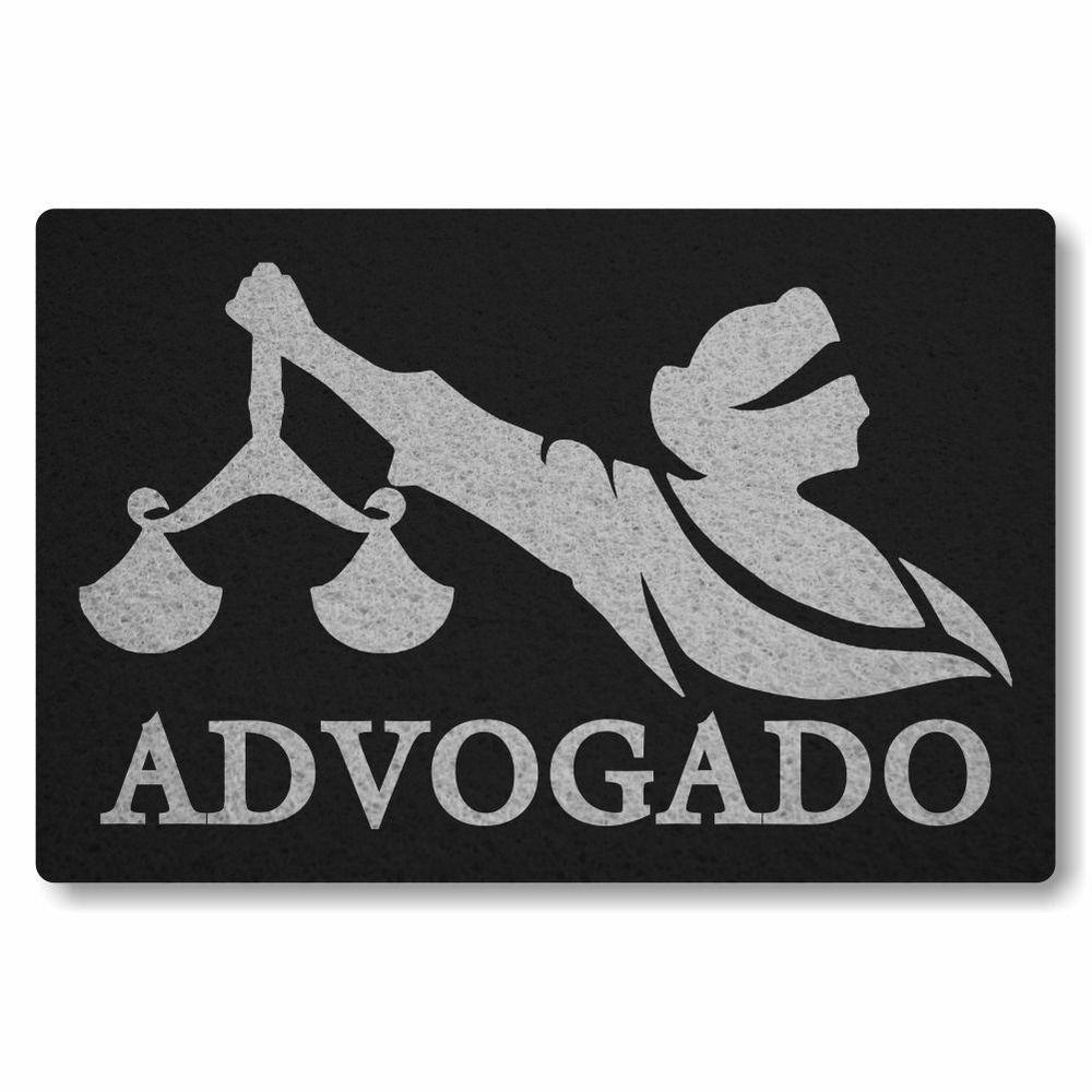 Capacho Personalizado Advogado   Preto  - Zap Tapetes e Capachos Personalizados