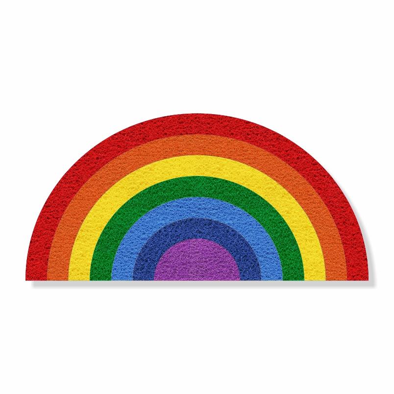 Tapete Capacho Arco-Íris LGBT 80x40 cm  - Zap Tapetes e Capachos Personalizados