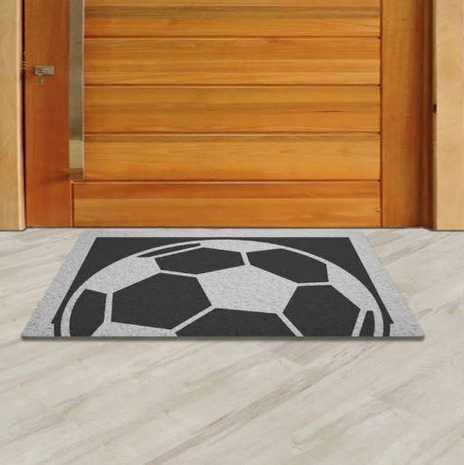 Tapete Capacho Bola Futebol  - Zap Tapetes e Capachos Personalizados