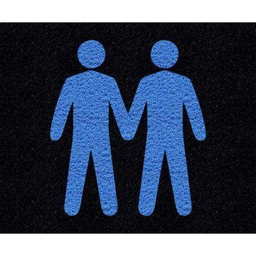 Tapete capacho casal masculino LGBT 60x40cm  - Zap Tapetes e Capachos Personalizados