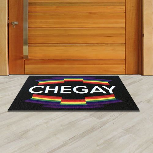 Tapete capacho Chegay LGBT 60x40cm  - Zap Tapetes e Capachos Personalizados