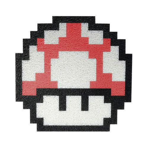 Tapete Capacho Cogumelo Mario Bros Verm 60x50 Cm  - Zap Tapetes e Capachos Personalizados