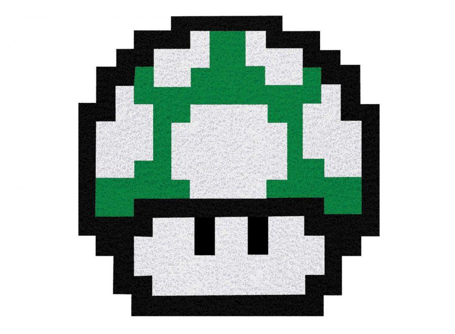 Tapete Capacho Cogumelo Up Super Mário Bros 60x50 cm  - Zap Tapetes e Capachos Personalizados