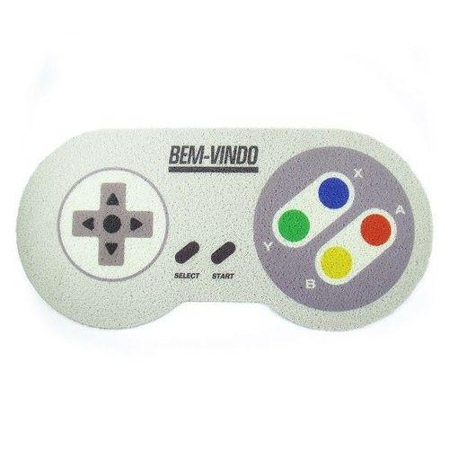 Tapete Capacho Controle Super Nitendo - 80 X 40 cm  - Zap Tapetes e Capachos Personalizados