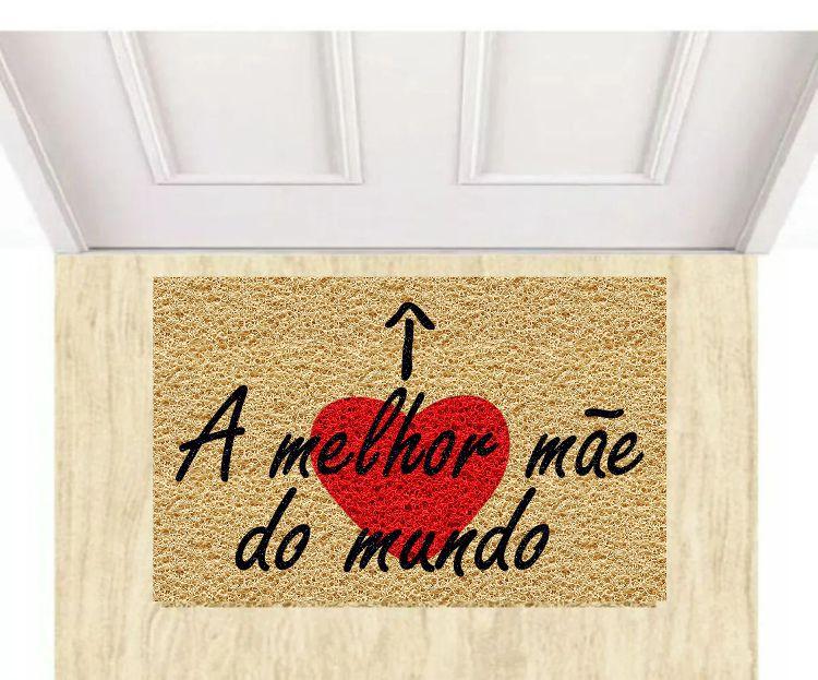 Tapete Capacho Dia das Mães 40x60 cm  - Zap Tapetes e Capachos Personalizados