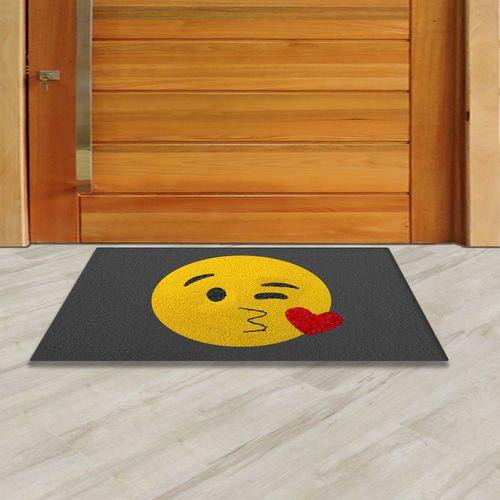 Tapete Capacho Emoji Beijinho 60x40 cm  - Zap Tapetes e Capachos Personalizados