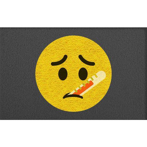 Tapete Capacho Emoji Doente 60x40cm  - Zap Tapetes e Capachos Personalizados