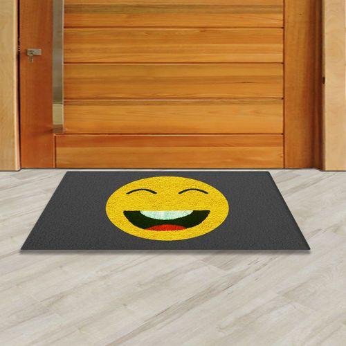 Tapete Capacho Emoji Sorrindo 60x40cm  - Zap Tapetes e Capachos Personalizados