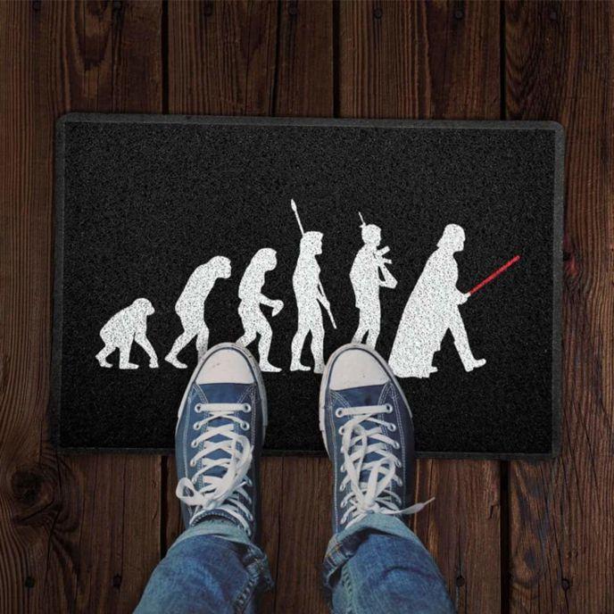 Tapete Capacho Evolução Sapiens 60x40 cm - preto.  - Zap Tapetes e Capachos Personalizados
