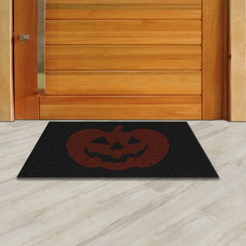 Tapete Capacho Halloween Abóbora  60x40 cm  - Zap Tapetes e Capachos Personalizados