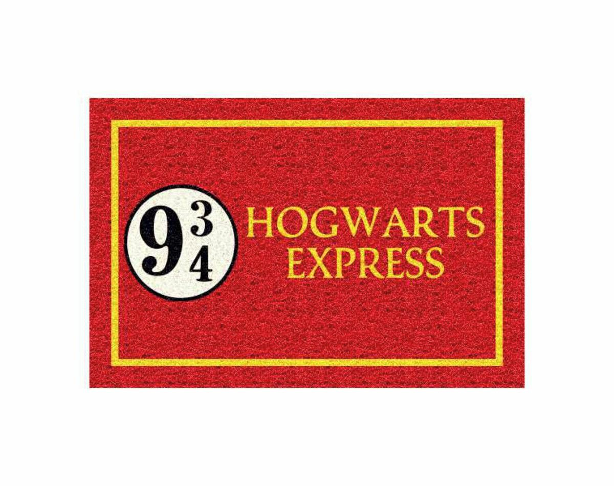 Tapete capacho Harry Potter 60x40 Hogwarts Express  - Zap Tapetes e Capachos Personalizados