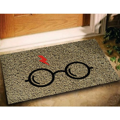 Tapete Capacho Harry Potter 60x40cm bege  - Zap Tapetes e Capachos Personalizados
