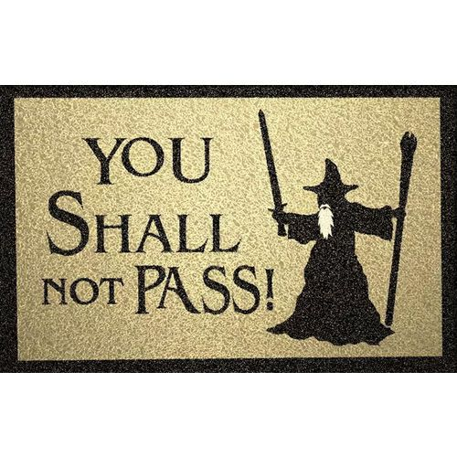 Tapete Capacho Harry Potter You Shall Not Pass! 60x40cm bege  - Zap Tapetes e Capachos Personalizados
