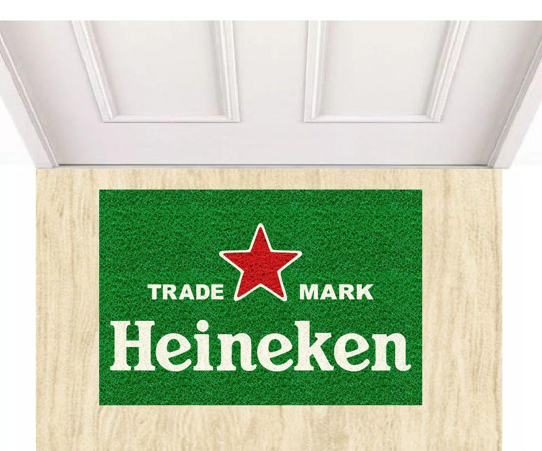 Tapete capacho Heineken trade mark 60x40 cm  - Zap Tapetes e Capachos Personalizados