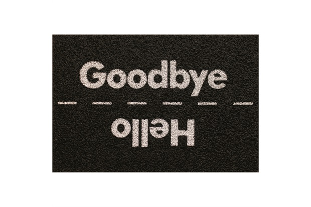 Tapete capacho Hello Goodbye 60x40 cm  - Zap Tapetes e Capachos Personalizados