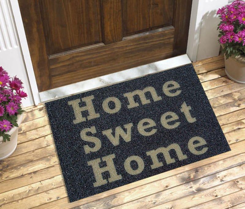 Tapete Capacho Home Sweet Home 60x40 cm Preto  - Zap Tapetes e Capachos Personalizados